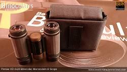 Inside the Carry Case & Pentax VD 4x20 Binoculars, Monocular & Spotting Scope