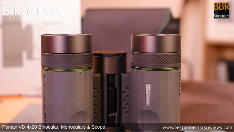 Focus Rings on the Pentax VD 4x20 Binoculars, Monocular & Spotting Scope
