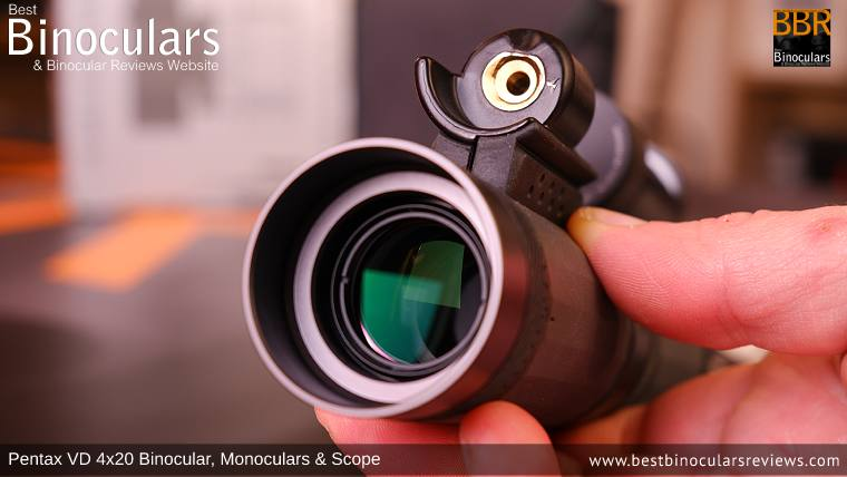 20mm Lens on the Pentax VD 4x20 Monocular & Spotting Scope