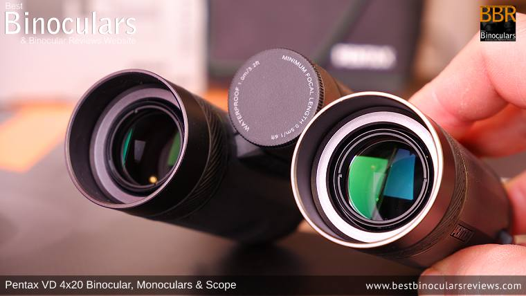 20mm Objective Lenses on the Pentax VD 4x20 Binoculars, Monocular & Spotting Scope
