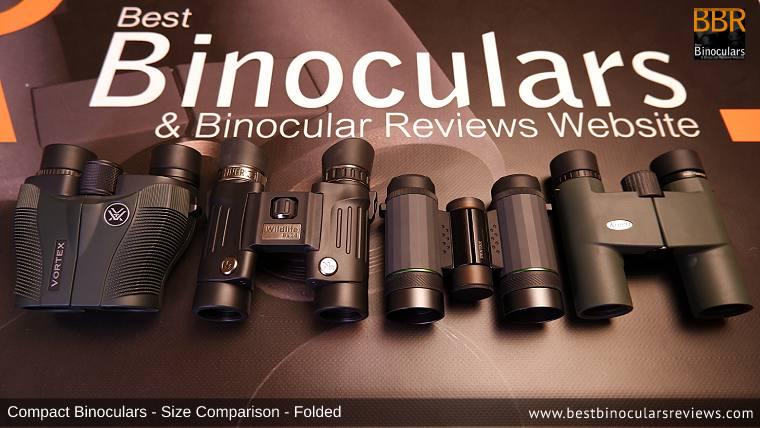 Compact Binocular Size Comparison (Open): Vortex Vanquish 10x26 vs Steiner Wildlife 8x24 vs Pentax VD 4x20 Binoculars, Monocular & Spotting Scope vs Kowa BD 8x25