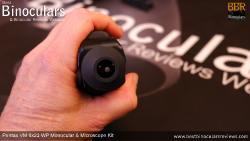 Eyecup on Pentax VM 6x21 WP Monocular & Microscope