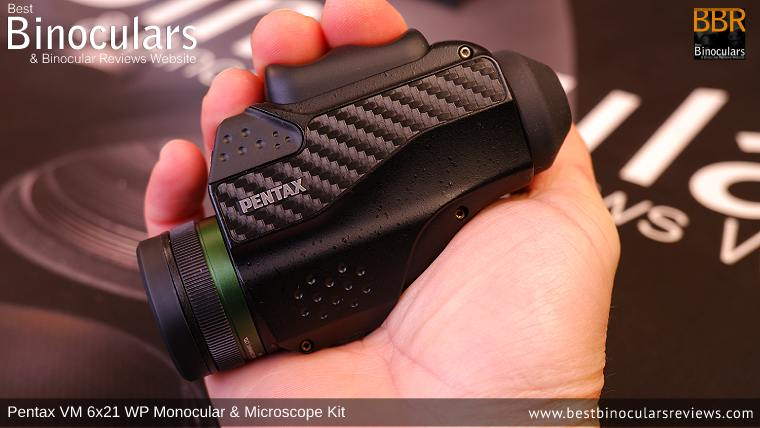 Focus Ring on the Pentax VM 6x21 WP Monocular & Microscope