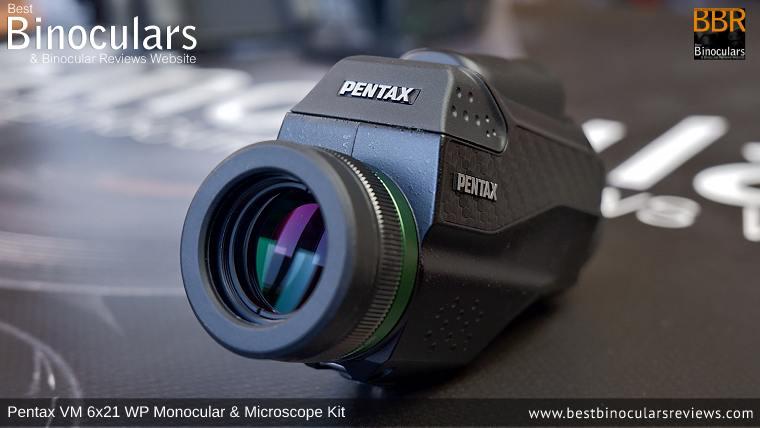 21mm Objective Lens on the Pentax VD 4x20 Binoculars