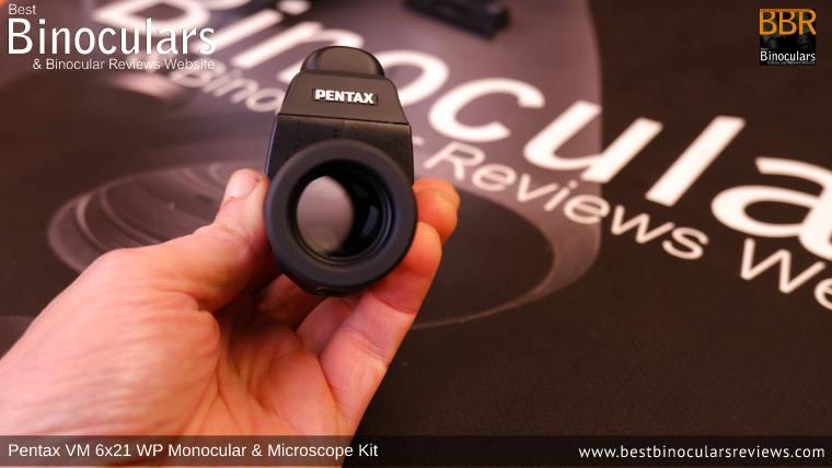 21mm Lens on the Pentax VD 4x20 Monocular & Spotting Scope