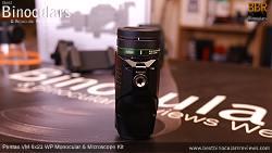 Underside of the Pentax VM 6x21 WP Monocular & Microscope