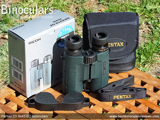 Accessories and the Pentax ZD 8x43 ED Binoculars