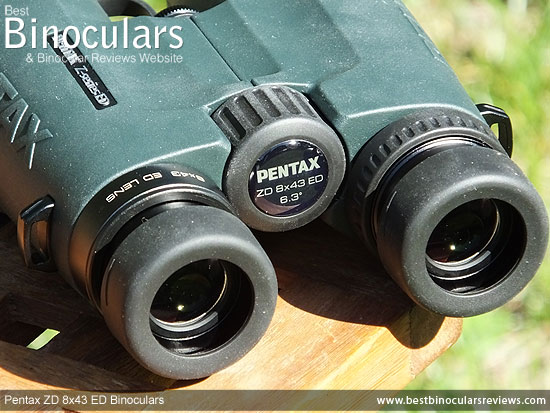 Focus Wheel on the Pentax ZD 8x43 ED Binoculars
