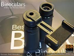 Universal Smartphone Adpater on the Rivmount 10x42 Binoculars
