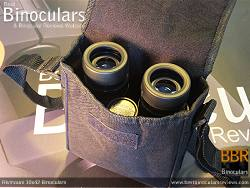 Rear view of the Carry Case & Rivmount 10x42 Binoculars