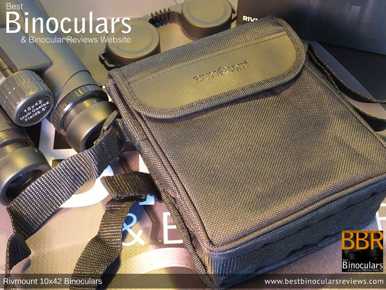 Inside the Rivmount 10x42 Binoculars Carry Case