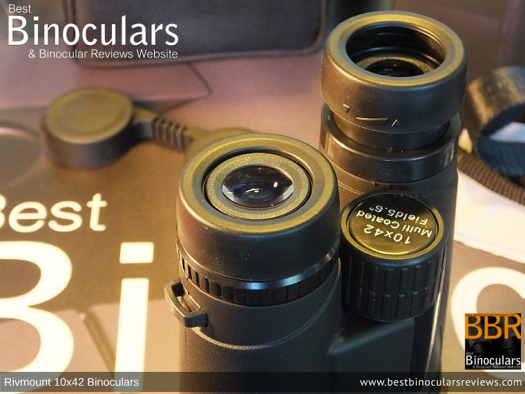 Eyecups on the Rivmount 10x42 Binoculars