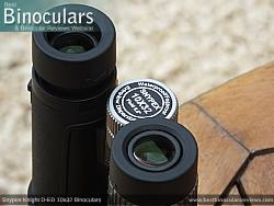 Eyecups on the Snypex Knight D-ED 10x32 Binoculars