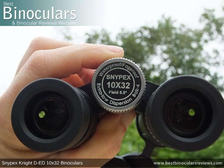 Focus Wheel on the Snypex Knight D-ED 10x32 Binoculars