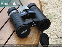 Lens Covers on the Snypex Knight D-ED 10x32 Binoculars