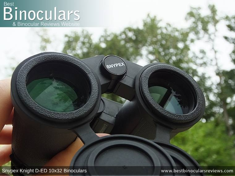 Objective Lenses on the Snypex Knight D-ED 10x32 Binoculars