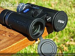 Lens Covers on the Snypex Knight D-ED 8x32 Binoculars