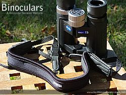 Neck strap on the Snypex Knight D-ED 8x32 Binoculars