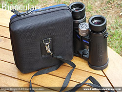 Rear of Carry Case for the Snypex Knight D-ED 8x42 Binoculars