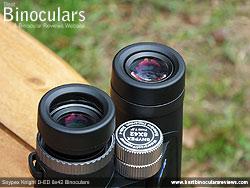 Eyecups on the Snypex Knight D-ED 8x42 Binoculars
