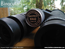 Focus Wheel on the Snypex Knight D-ED 8x42 Binoculars