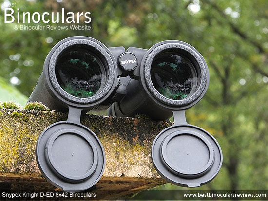 Objective Lenses on the Snypex Knight D-ED 8x42 Binoculars