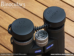 Lens Covers on the Snypex Knight D-ED 8x42 Binoculars