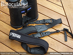 Neck strap on the Snypex Knight D-ED 8x42 Binoculars
