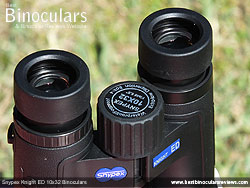 Eyecups on the Snypex Knight ED 10x32 Binoculars