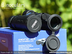 Lens Covers on the Snypex Knight ED 10x32 Binoculars