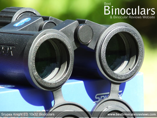 Objective Lenses on the Snypex Knight ED 10x32 Binoculars
