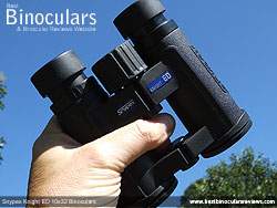 Openbridge design of the Snypex Knight ED 10x32 Binoculars
