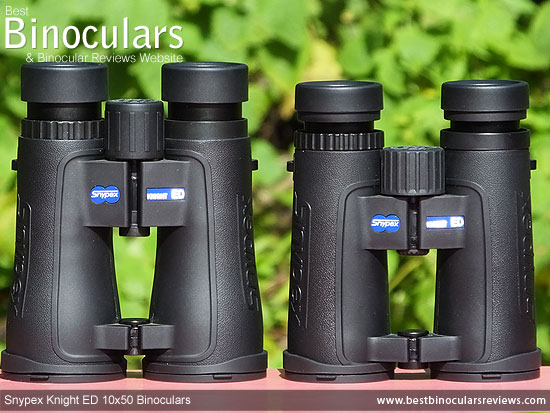 Comparison between the 8x42 and the 10x50 Snypex Knight ED Binoculars