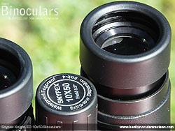 Eyecups on the Snypex Knight ED 10x50 Binoculars