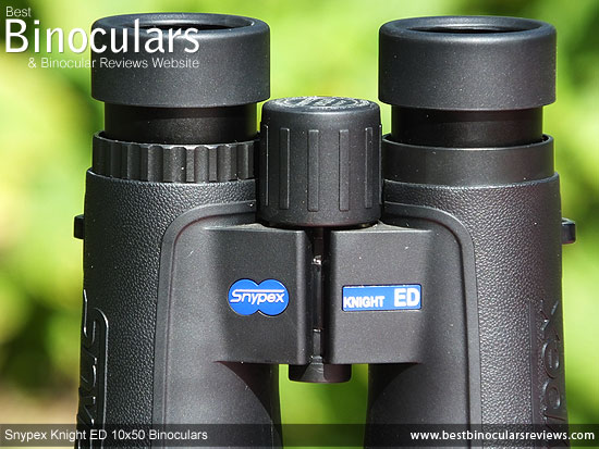 Focus Wheel on the Snypex Knight ED 10x50 Binoculars