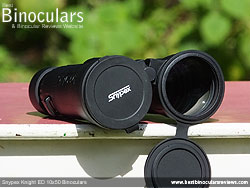 Lens Covers on the Snypex Knight ED 10x50 Binoculars