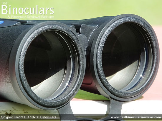 Objective Lenses on the Snypex Knight ED 10x50 Binoculars