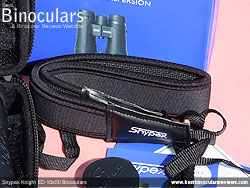 Neck strap on the Snypex Knight ED 10x50 Binoculars