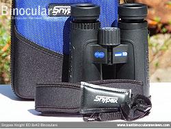 Neck strap on the Snypex Knight ED 8x42 Binoculars