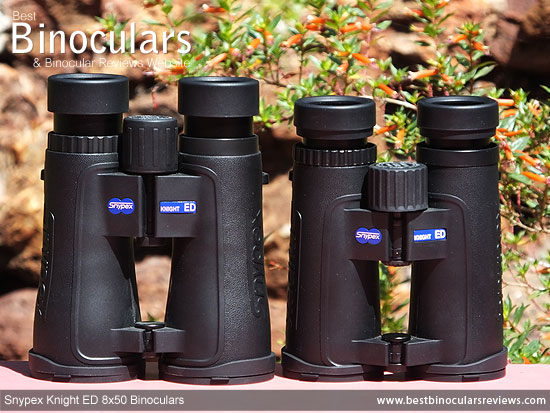 Comparison between the 8x42 and the 8x50 Snypex Knight ED Binoculars