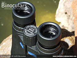 Eyecups on the 8x50 Snypex Knight ED Binoculars