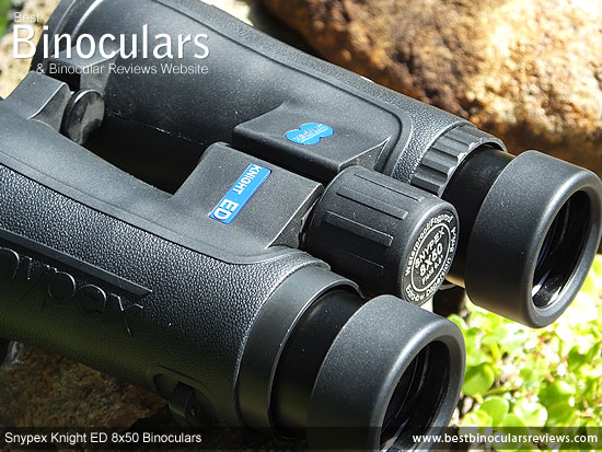 Focus Wheel on the Snypex 8x50 Knight ED Binoculars
