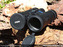 Lens Covers on the Snypex Knight ED 8x50 Binoculars