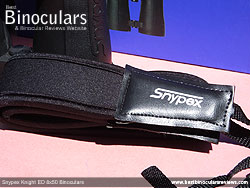 Neck strap on the Snypex Knight ED 8x50 Binoculars