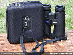 Rear view of the Carry Case & Snypex Profinder HD 8x42 Binoculars