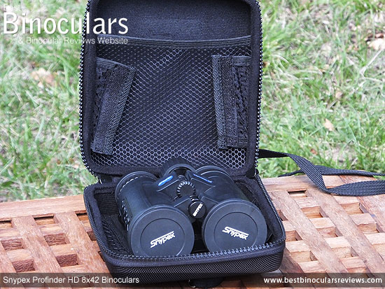 Inside the Snypex Profinder HD 8x42 Binoculars Carry Case