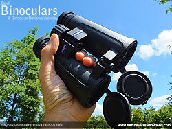 Open bridge design on the Snypex Profinder HD 8x42 Binoculars