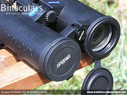Objective Lens Covers on the Snypex Profinder HD 8x42 Binoculars