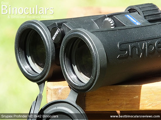 42mm Objective Lenses on the Snypex Profinder HD 8x42 Binoculars