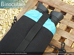 Rear view of the Carry Case & Steiner BluHorizons 10x26 Binoculars